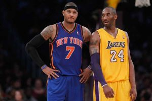 Carmelo Anthony of the Knicks and Kobe Bryant (from www.newsday.com)
